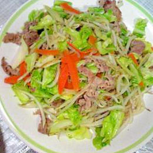 超薄切り肉野菜炒め