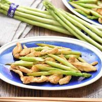 福岡県応援レシピ|博多アスパラガス使用|鶏むね肉とアスパラガスの中華炒め