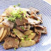 牛肉とごぼうのガーリック炒め