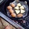 夏キャンプ!ダッチオーブンで燻製
