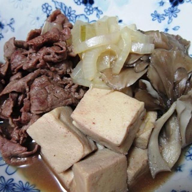 高野豆腐で肉豆腐 すき焼き仕立て