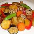 鶏から揚げと彩り野菜の甘酢あんかけ