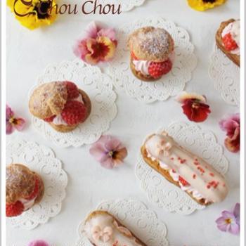 【レシピ】苺のシューとエクレア