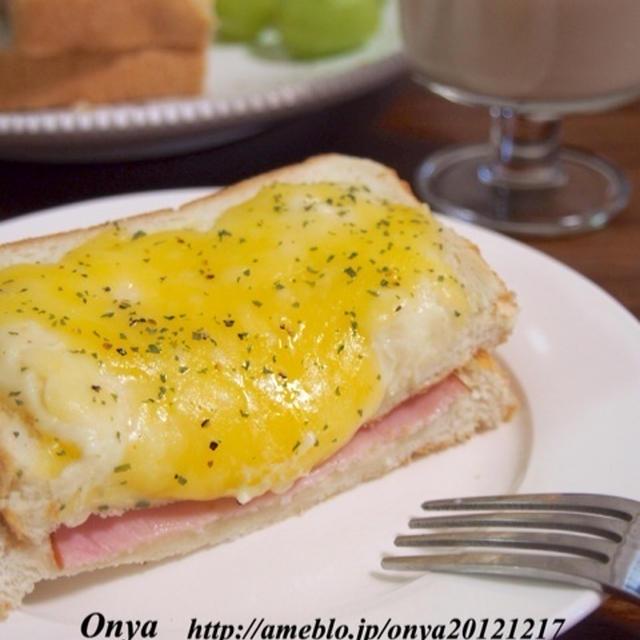 【10分で作れる!休日のおしゃれ朝ごはん♪クロックムッシュとおすすめのグリーンジュース♪】