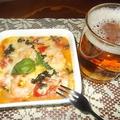 バジルとトマトのチーズ焼き