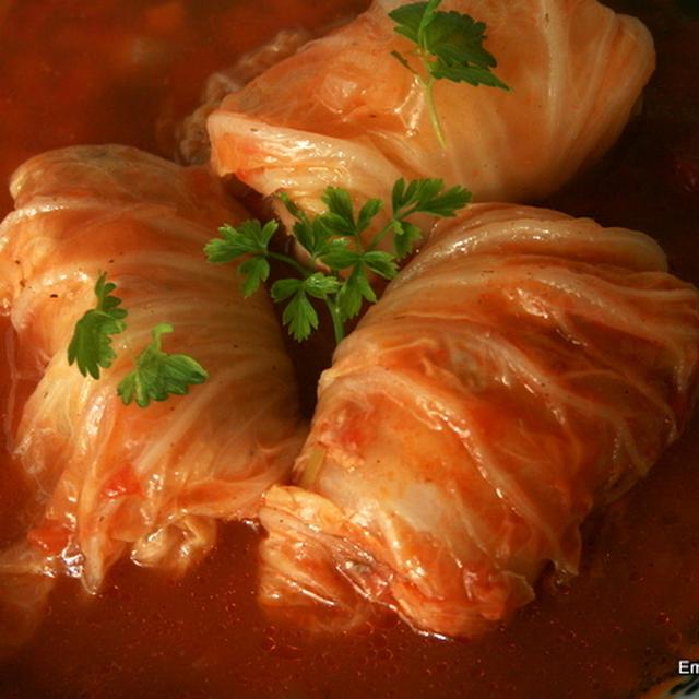 ロール白菜ほんのり味のトマトソース煮