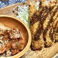 おうちでご飯☆エビフライ&納豆キムチ&カレースープ。