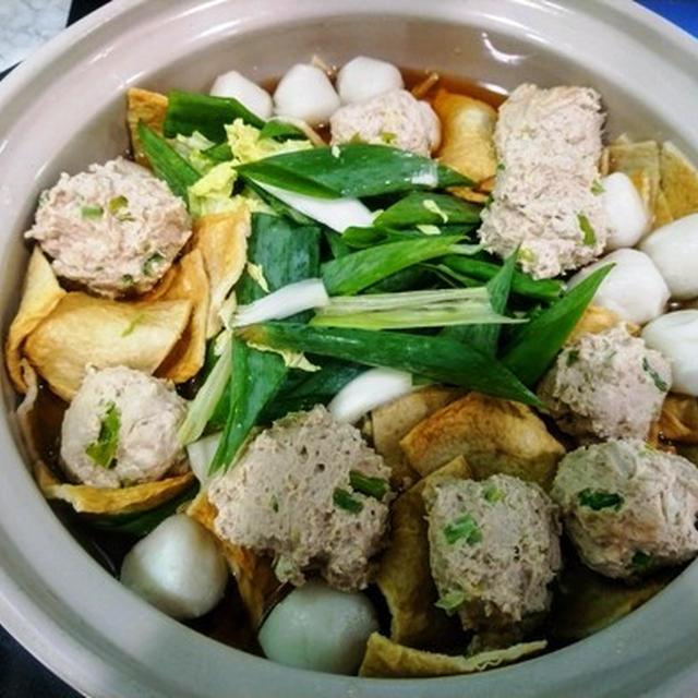 台湾人グループとの宴~ 鶏団子鍋