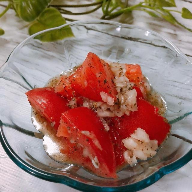 切って漬けるだけ!簡単トマトのマリネ トマトの効能効果 茹で卵ダイエット1週間経過