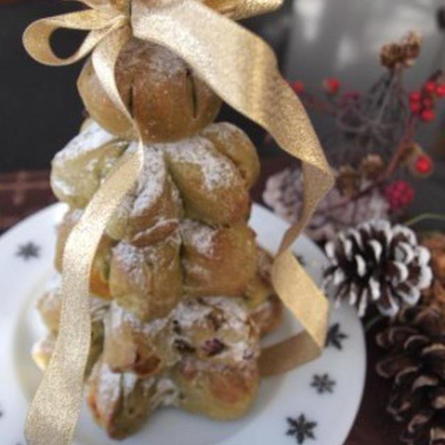 *思いつきで☆クリスマスツリーパン*