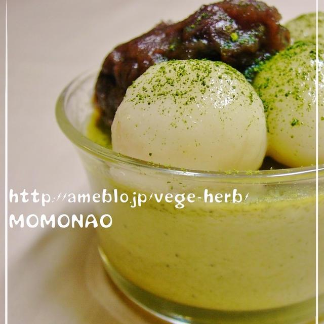 固くならない豆腐白玉団子のせて抹茶プリン☆魔除けゴスペル聞きながらレシピブログmagazine♪