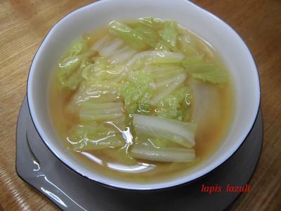 白菜と生姜のスープ