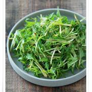 小さな作り置きが便利!『水菜のピリ辛』