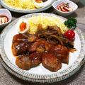 一人約250g!(驚)~グローブトンテキと炊飯器で炊く赤飯~