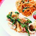 【簡単料理】 ダイエットにおすすめ!イカと菜の花の塩バター炒めの作り方・レシピ☆ by 和田 良美さん