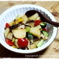 簡単■彩りホットサラダ わさびソース和え■簡単なのに美味しいソース♪(・∀・)ノ