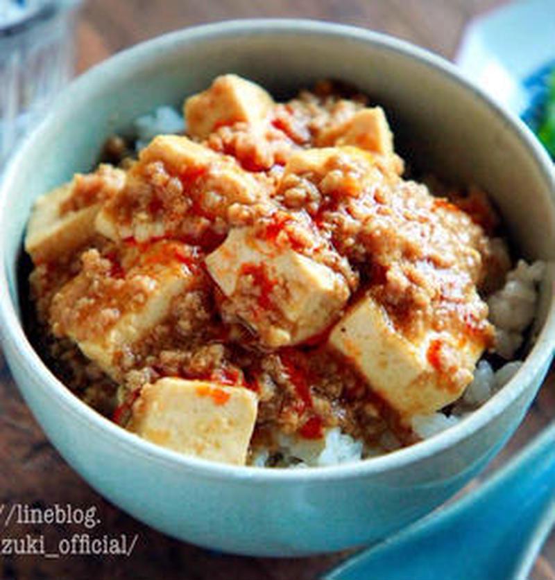 がっつり食べたいときに!アレンジたくさん♪「麻婆豆腐丼」レシピ
