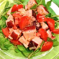 7月1日 日曜日 蛸とトマトとルッコラのサラダ