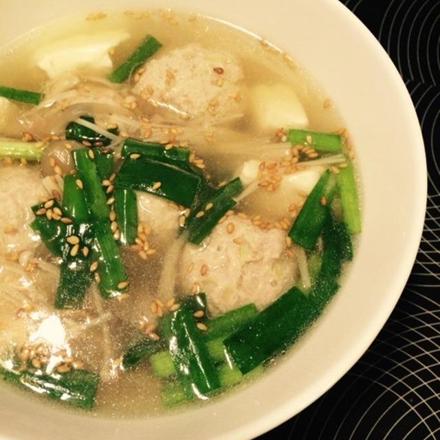 えのきと肉団子のスープ