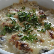 牡蠣の味噌グラタン