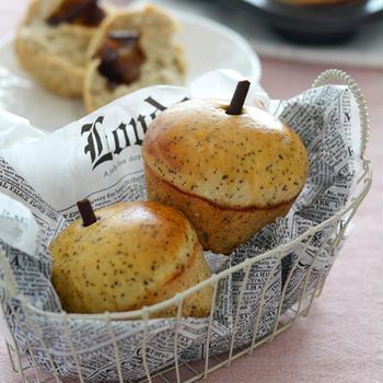 紅茶とりんごのパン。【マフィン型でりんごの形】