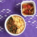 まん丸弁当とサブおかず「カブとミニトマトのコンビーフ炒め」