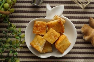 次の日もサクサク♡食パンラスクとおじさんご飯。