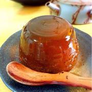 自家製ほうじ茶でお砂糖なし【ほうじ茶ゼリー】