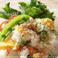レンジで簡単☆鮭と炒り卵のちらし寿司