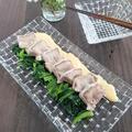 簡単オードブル!豚タンの辛子マヨソース