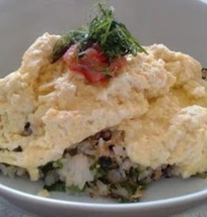卵1個deふわとろ明太オムライス