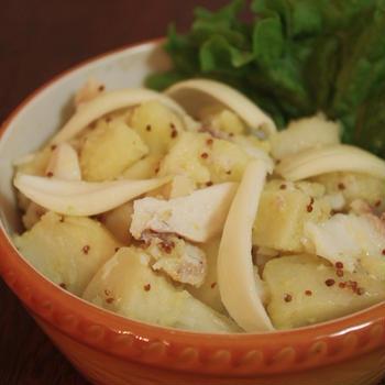 タマネギとタラのポテトサラダ