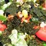 ■晩ご飯【ぶっかけ納豆・野菜入りうどん/竹の子とお揚げの甘辛炒め煮】