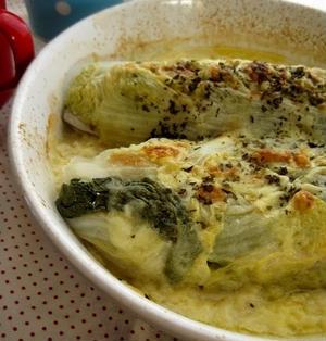 簡単★塩サバの白菜ロールチーズ焼き