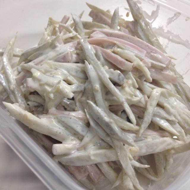 魚肉ソーセージ牛蒡サラダ♪