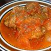 鶏と新玉ねぎのトマト煮
