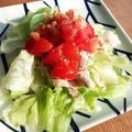 【豚しゃぶサラダ】と回転寿司 by さっきーさん