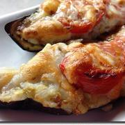 ギリシャのムサカ風ナスのファルシ-下準備15分、オーブンで10分の簡単料理