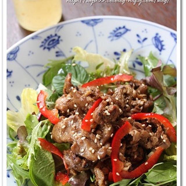 ベビーリーフon焼き肉サラダ