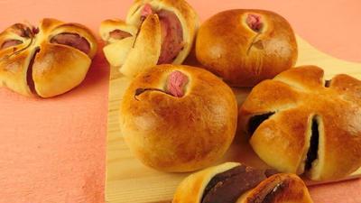桜の塩漬け入り失敗しない桜あんぱんレシピ|トースターでパン作り