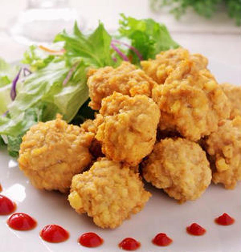 混ぜて揚げるだけ♪鶏ひき肉を使ってチキンナゲットを作ろう!