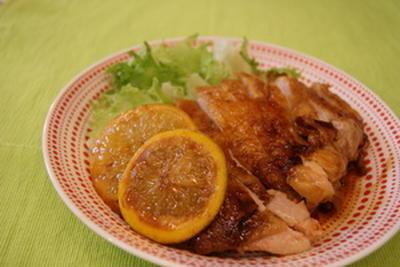 小夏風味の鶏照り焼き。