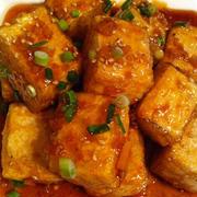 揚げ出し豆腐と米酢の香味ソース