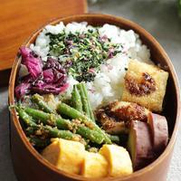 食べざかり中学生のお弁当~ササミカツといんげんの胡麻和え☆米油で揚げものしてみたよ!【ボーソー米油部】