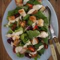 鶏の唐揚げのシーザーサラダ