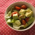 アボカドとプチトマトの塩サラダ