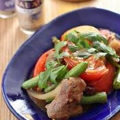 ラム肉とトマトのクミン炒め