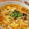 タバスコとふかひれスープで酸辣湯麺!?