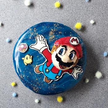 マリオの ギャラクシームースケーキ