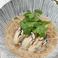 牡蠣のフォー和風仕立て|おだしでおいしいあったか麺レシピ